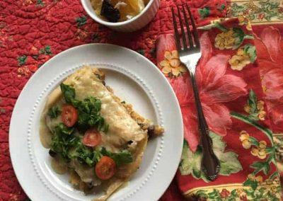 Butternut Squash, Poblano Pepper & Coconut Chilaquiles