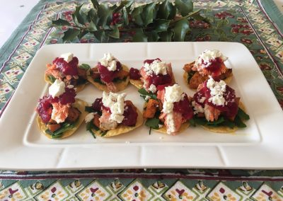 Festive Holiday Mini Tostados