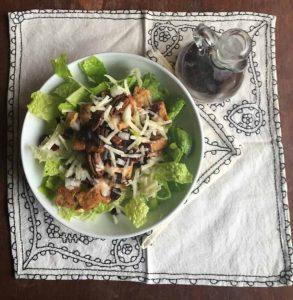 Salad with Tofu, Cherry, Pecans
