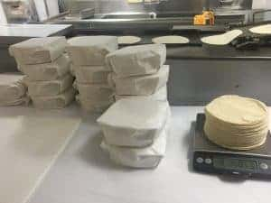 Fresh Tortillas made in the factory