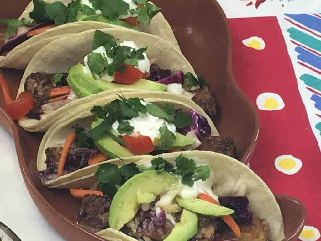 Tacos made with Hempeh