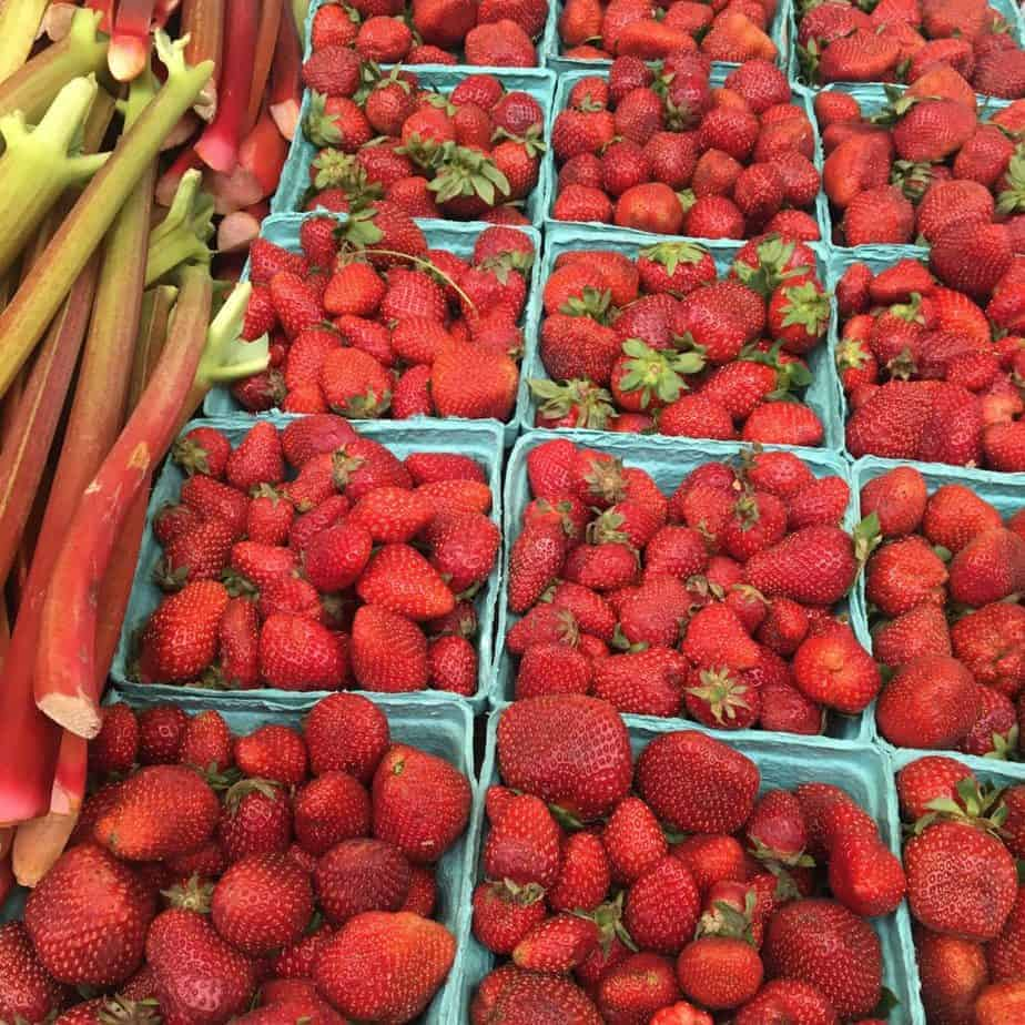 Strawberries and Rhubarb Farmers Market