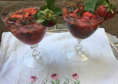 Strawberry Mint Lime Fizz