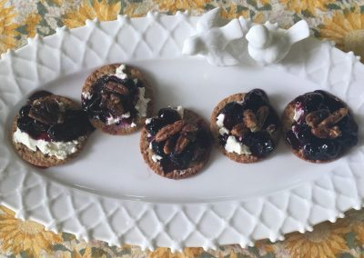 Blueberry Praline Cheese Bites