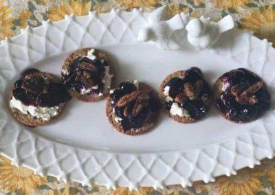 Blueberry Praline Cheese Bites