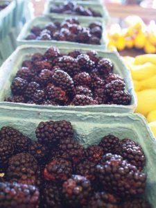 Blackberries at the Farmers Market