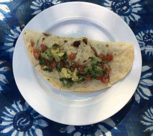 Grilled Cauliflower & Poblano Quesadilla