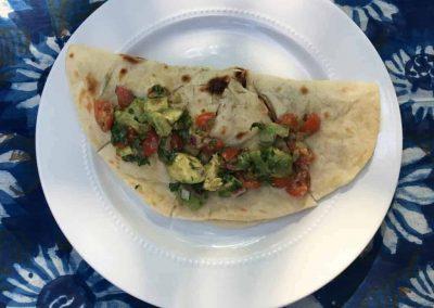 Grilled Cauliflower & Poblano Quesadillas