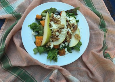 Roasted Butternut Squash Salad with Pears and Goat Cheese