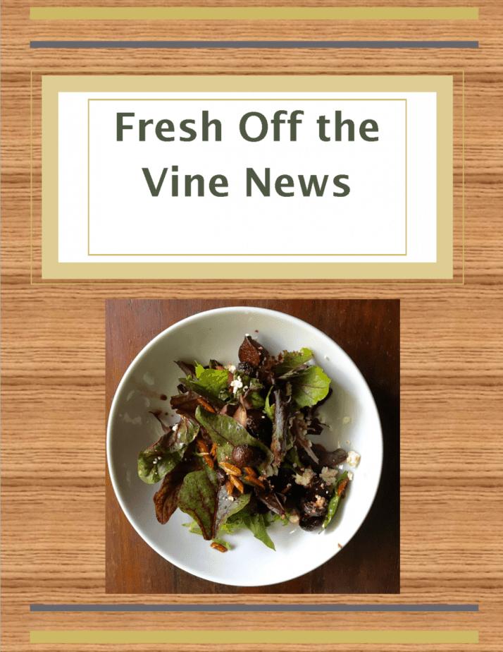 Vine Ripe Nutrition Newsletter