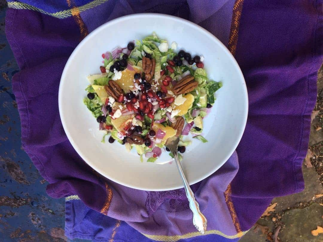 Rainbow Brussels Sprout Salad
