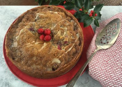Low Fodmap Cranberry Walnut Coffee Cake
