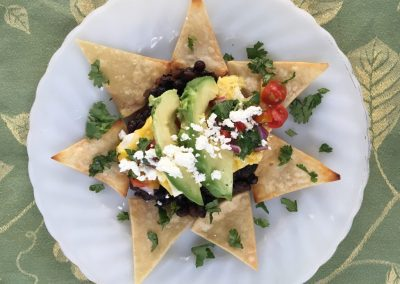 Wild Blueberry Huevos Rancheros
