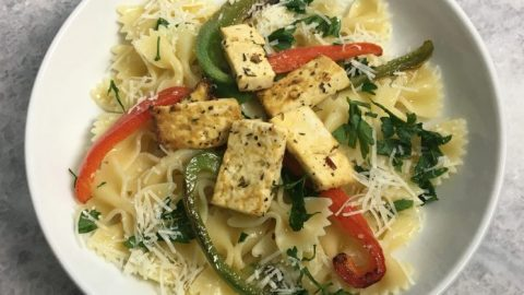 Vegetable Pasta with Tofu