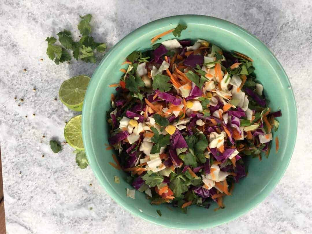 Colorful Mexican Cabbage Slaw