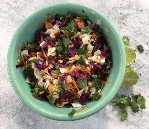 Healthy Mexican Cabbage Slaw