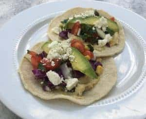 Hummus Taco with Fresh Veggies