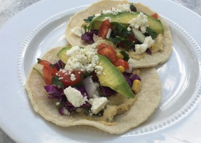 Fresh Summer Hummus Tacos