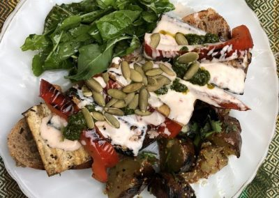 Grilled Tofu Vegetable Sandwich