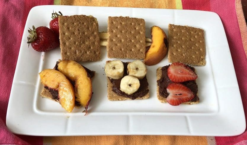 S'mores with Grilled Fruit Added