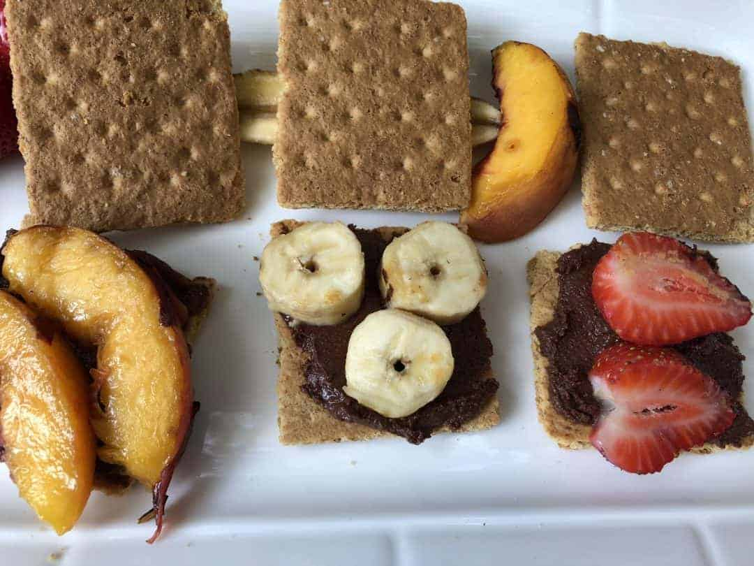 Tasty S'Mores with Grilled Fruit