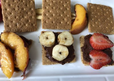 Grilled Fruit S'mores