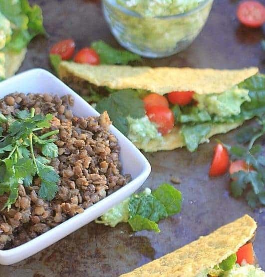 Tacos with Lentils as Filling