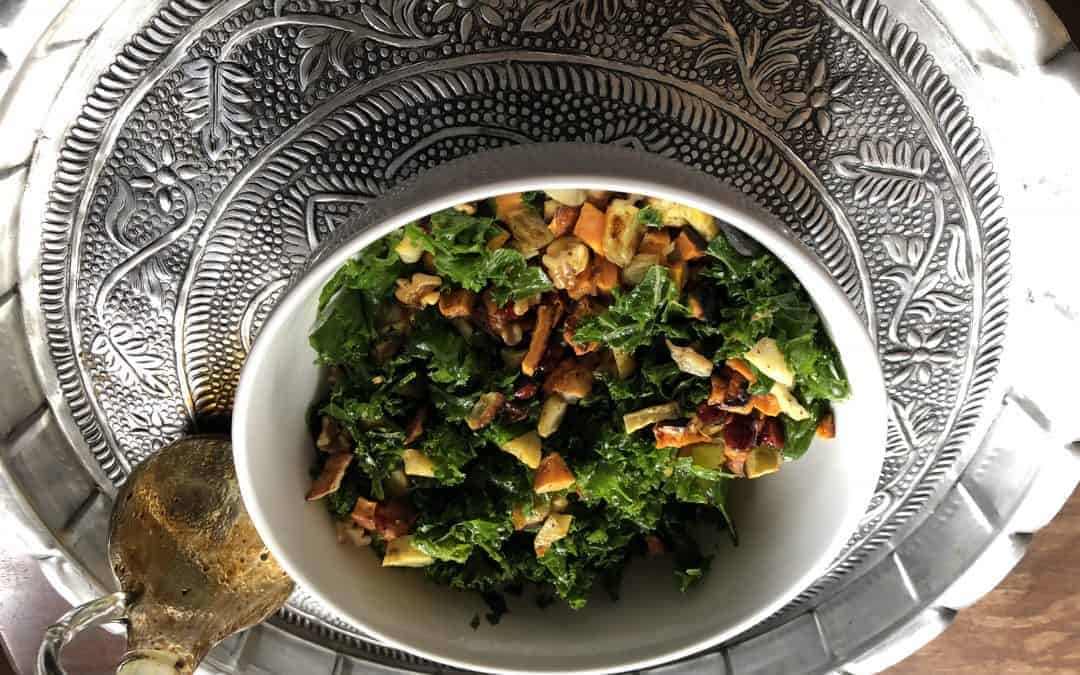 Kale and Roasted Sweet Potato Salad