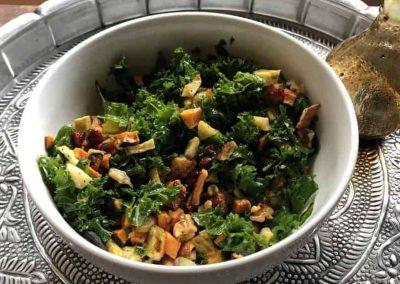 Kale and Roasted Sweet Potato Salad