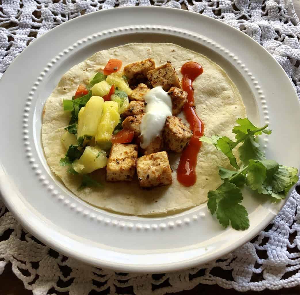 Tofu Tacos with Pineapple Salsa