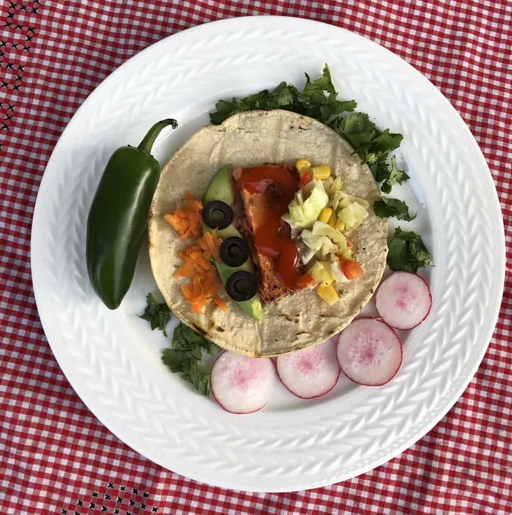 Salmon Taco with Low Fodmap Fixings