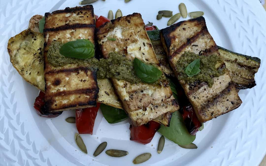 Grilled Tofu Summer Vegetable Sandwich