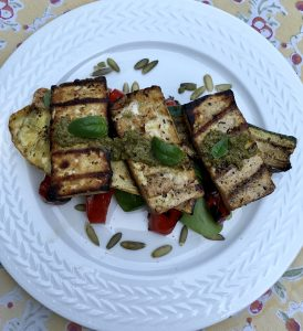 Grilled Squash and tofu Sandwich