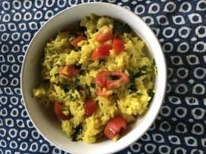 Red, Green and Yellow Mexican Rice