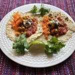 Chick Pea Tacos with Pickled Carrots