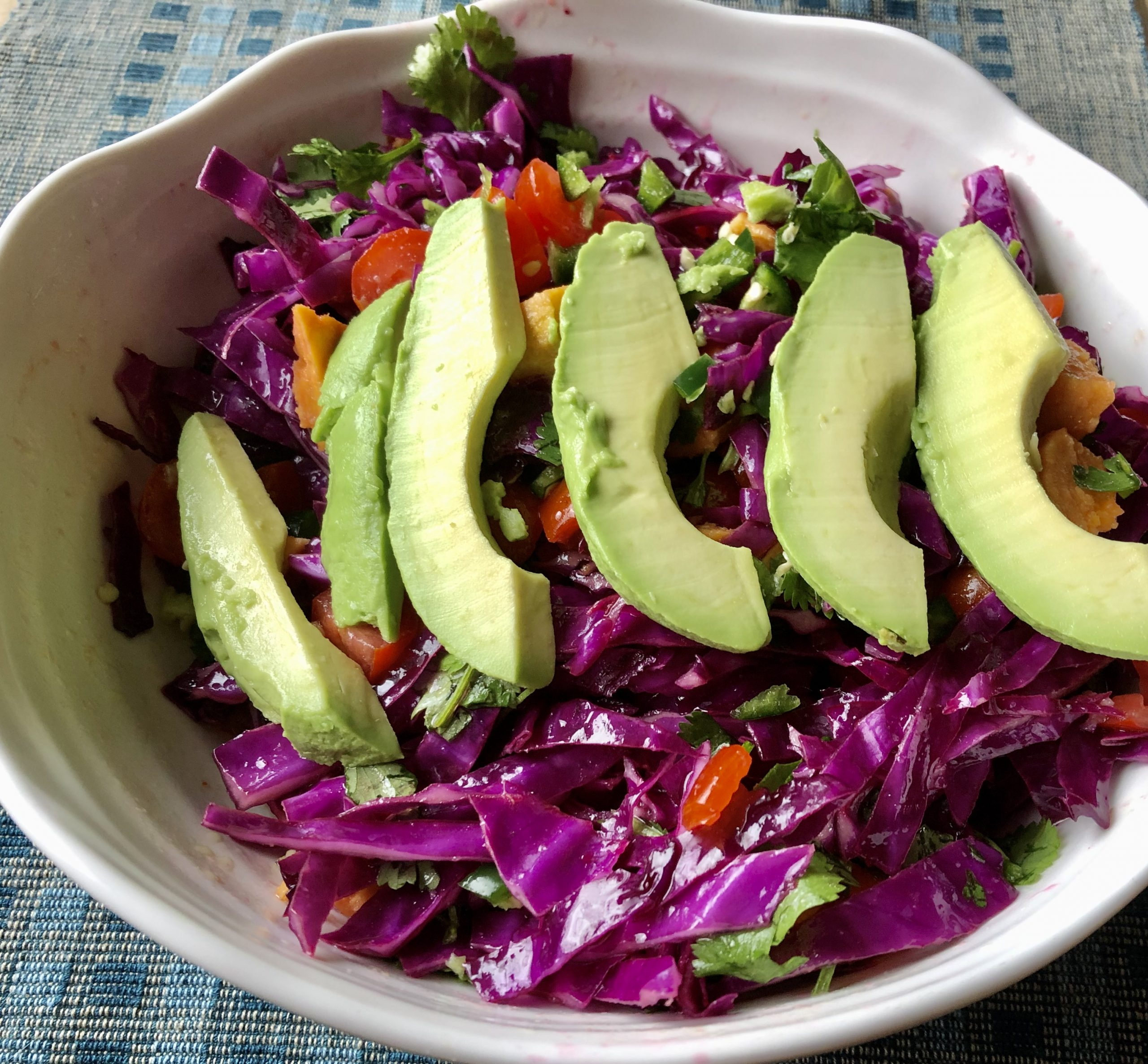 Purple Salad with Polyphenols