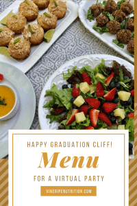 Pictures of food I made for virtual graduation