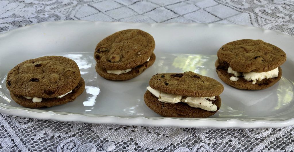 Premade Ice cream sandwiches and store bought ice creams makes a sweet treat
